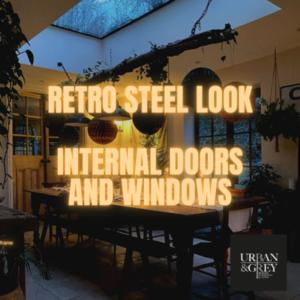 London Steel Look Aluminium Framed Internal Doors Home Domestic Glass Walls Frameless Glazed