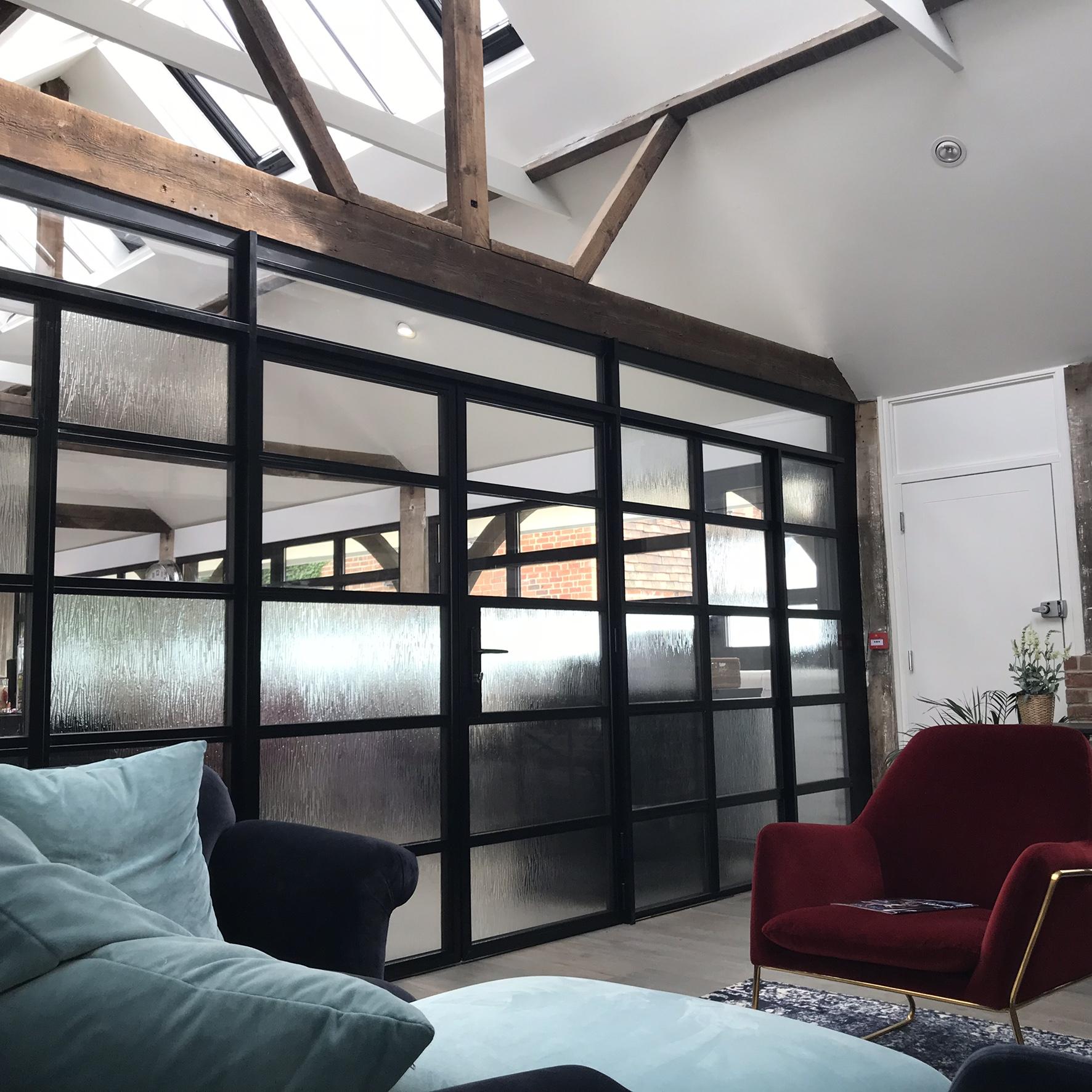 london surrey internal doors sliding bifol aluminium frames