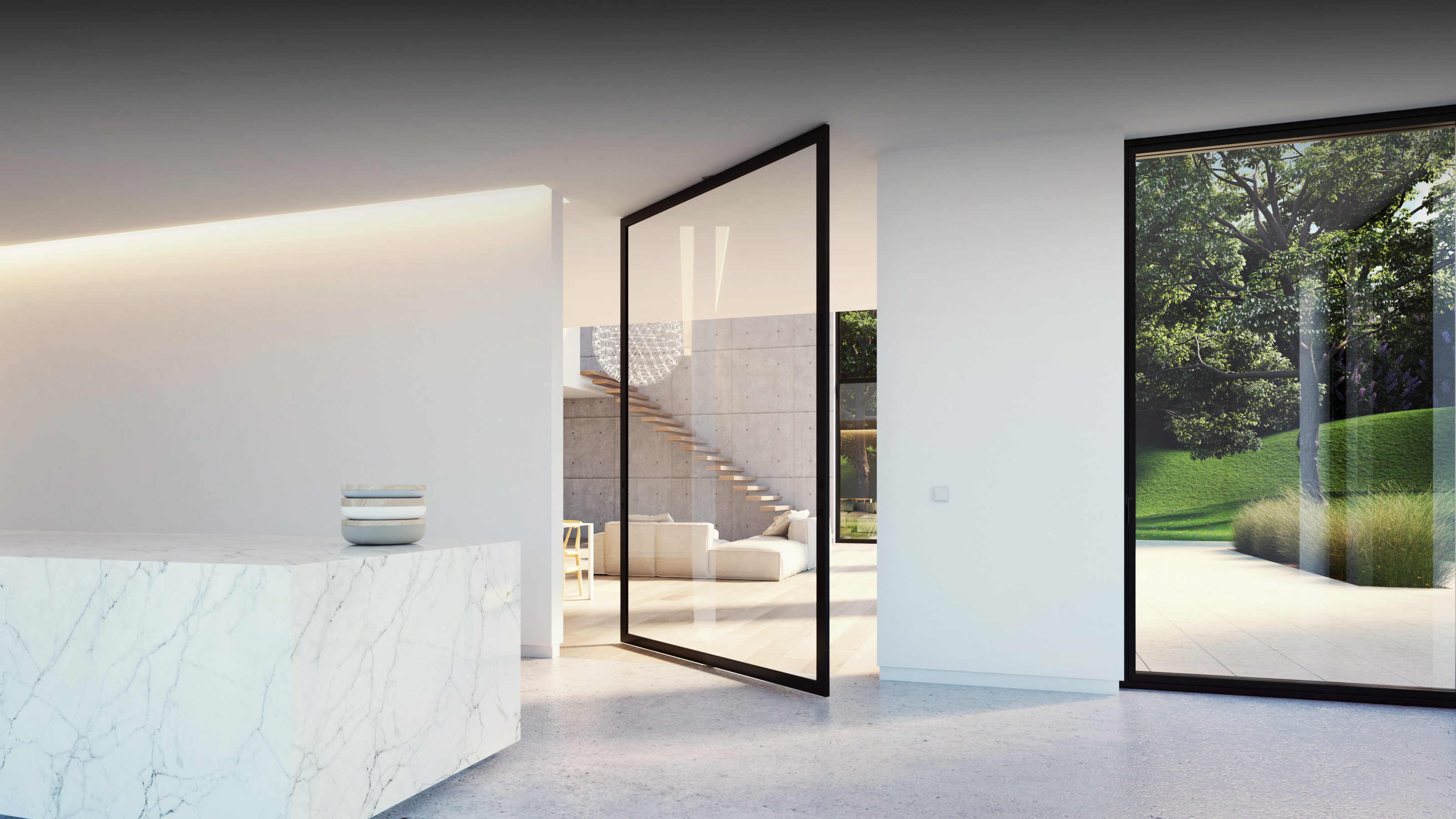 London Made To Measure Aluminium Pivot Folding Sliding Internal Doors Surrey Invisible Hinges Colour Frames -