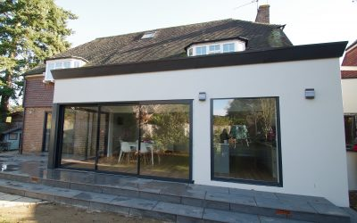 Urban and grey aluminium sliding doors